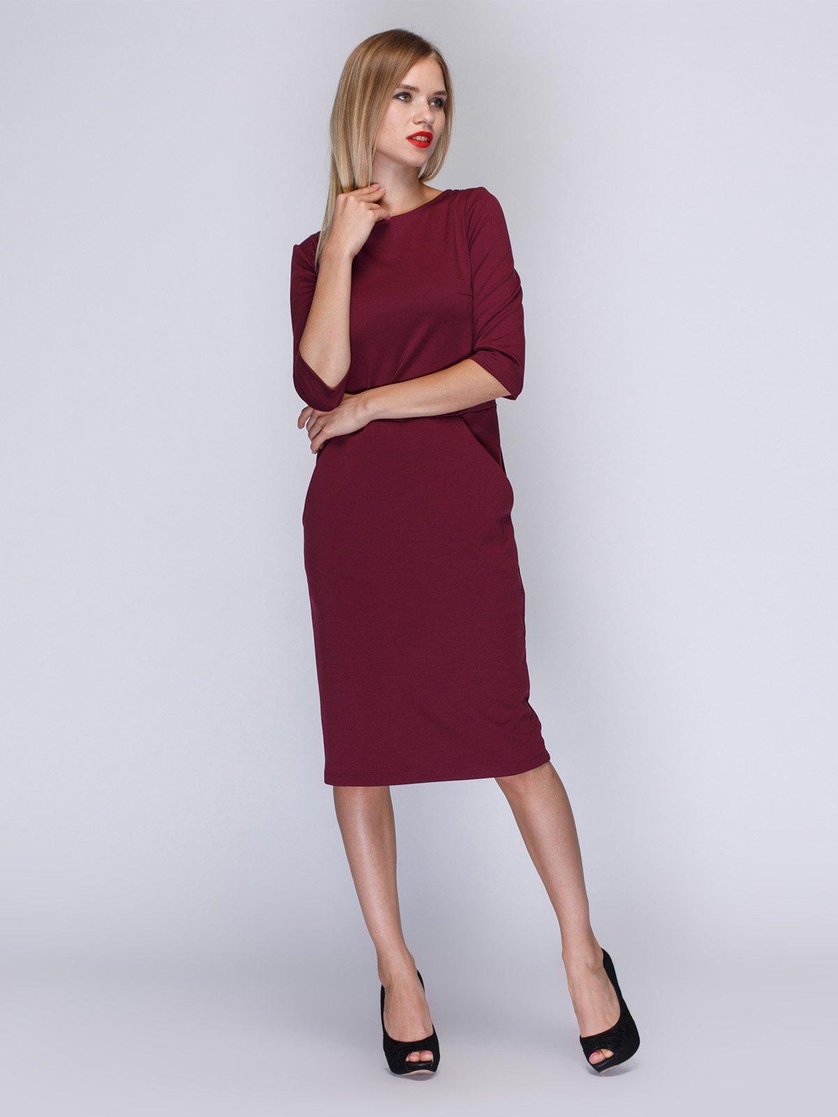 554d45606bd5053 Платье цвета марсала — MarieM, акция действует до 26 ноября 2018 ...