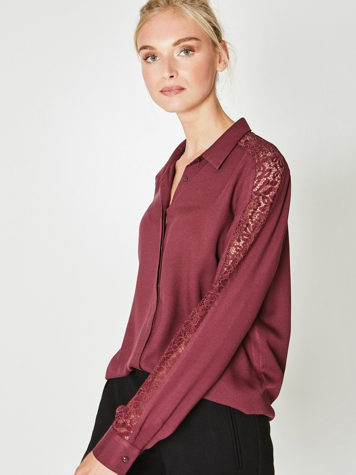 Рубашка бордовая | 3581820