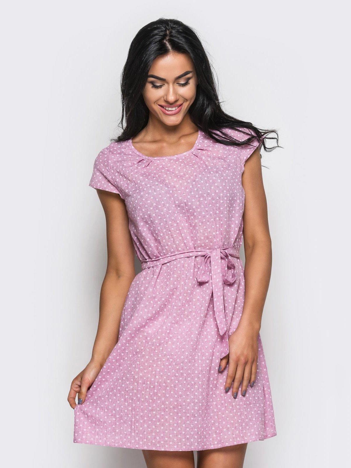 Платье розовое в горошек   3584309   фото 2