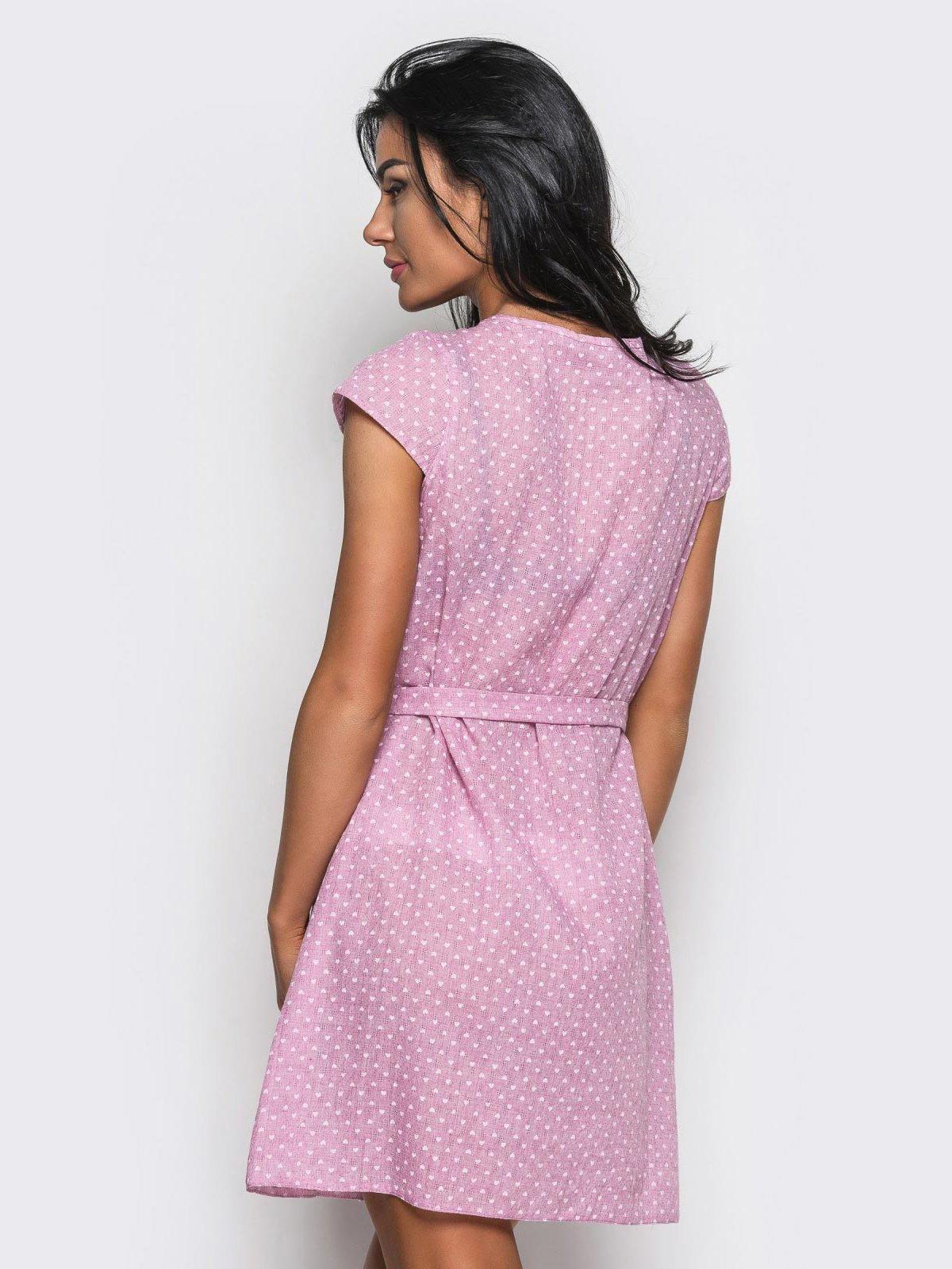 Платье розовое в горошек   3584309   фото 3