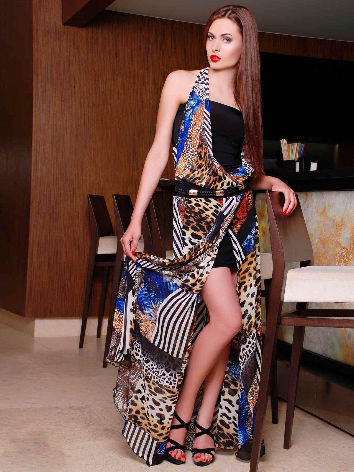 Сукня комбінованого забарвлення | 3583442