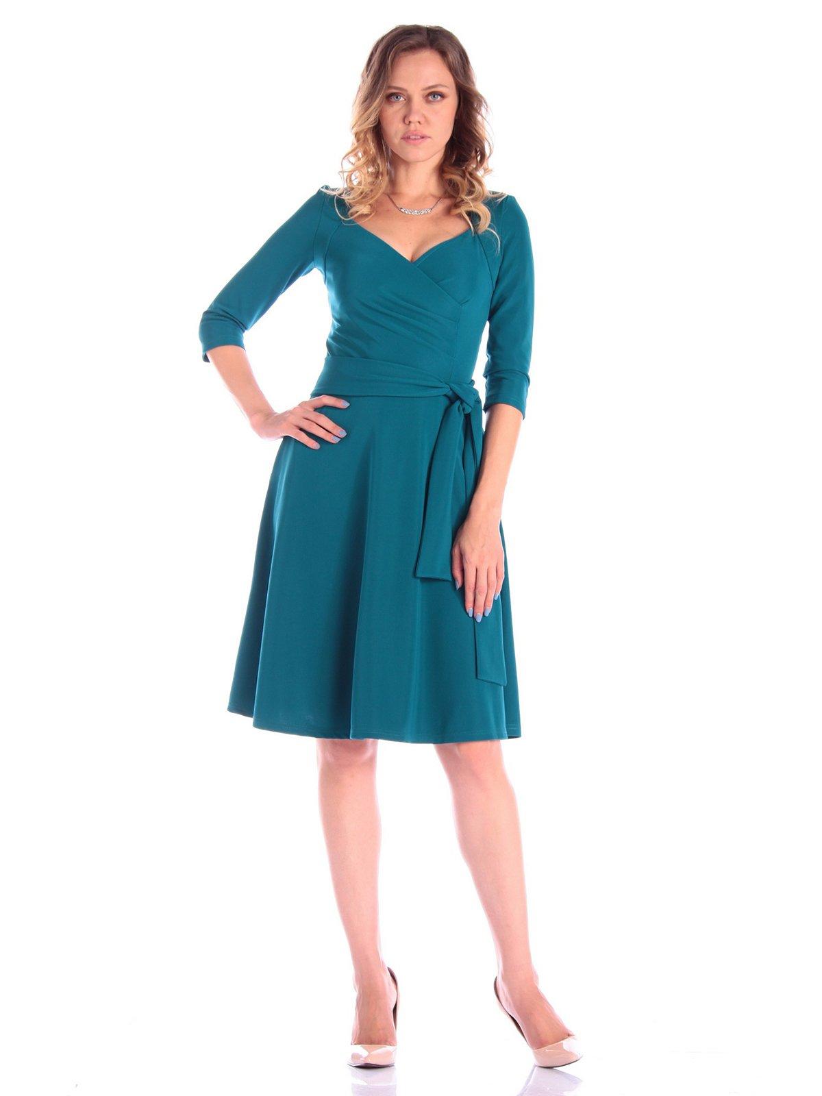 Платье темно-бирюзового цвета   3581097