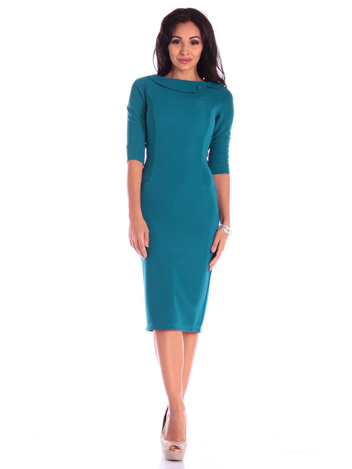 Платье темно-бирюзовое | 3608709