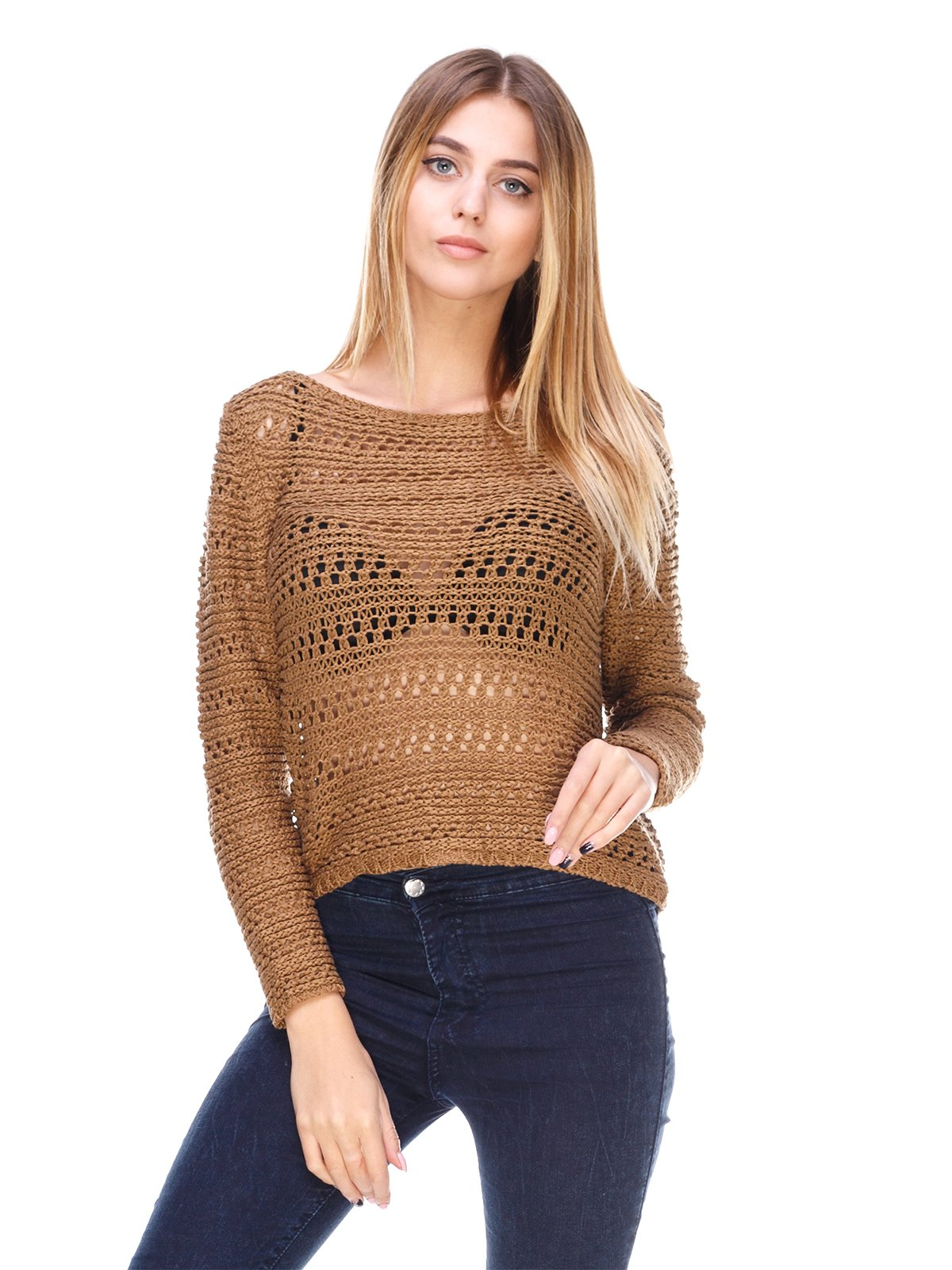 Джемпер коричневий | 867329
