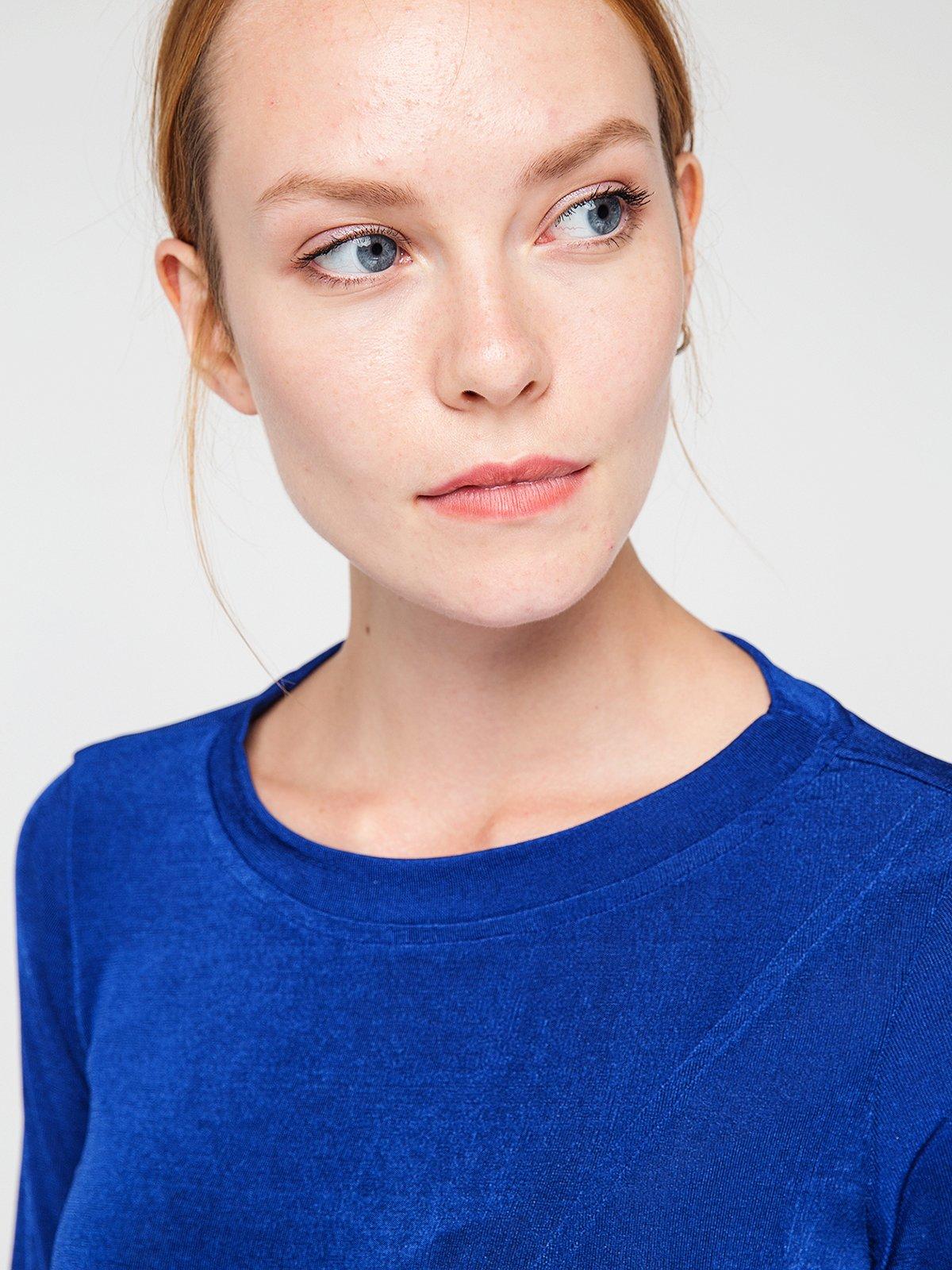 Блуза цвета морской волны | 3606450 | фото 2
