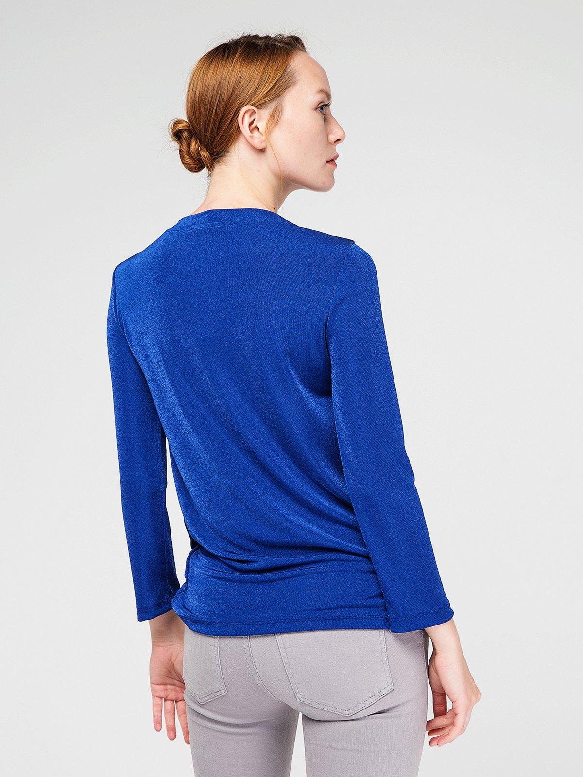 Блуза цвета морской волны | 3606450 | фото 3