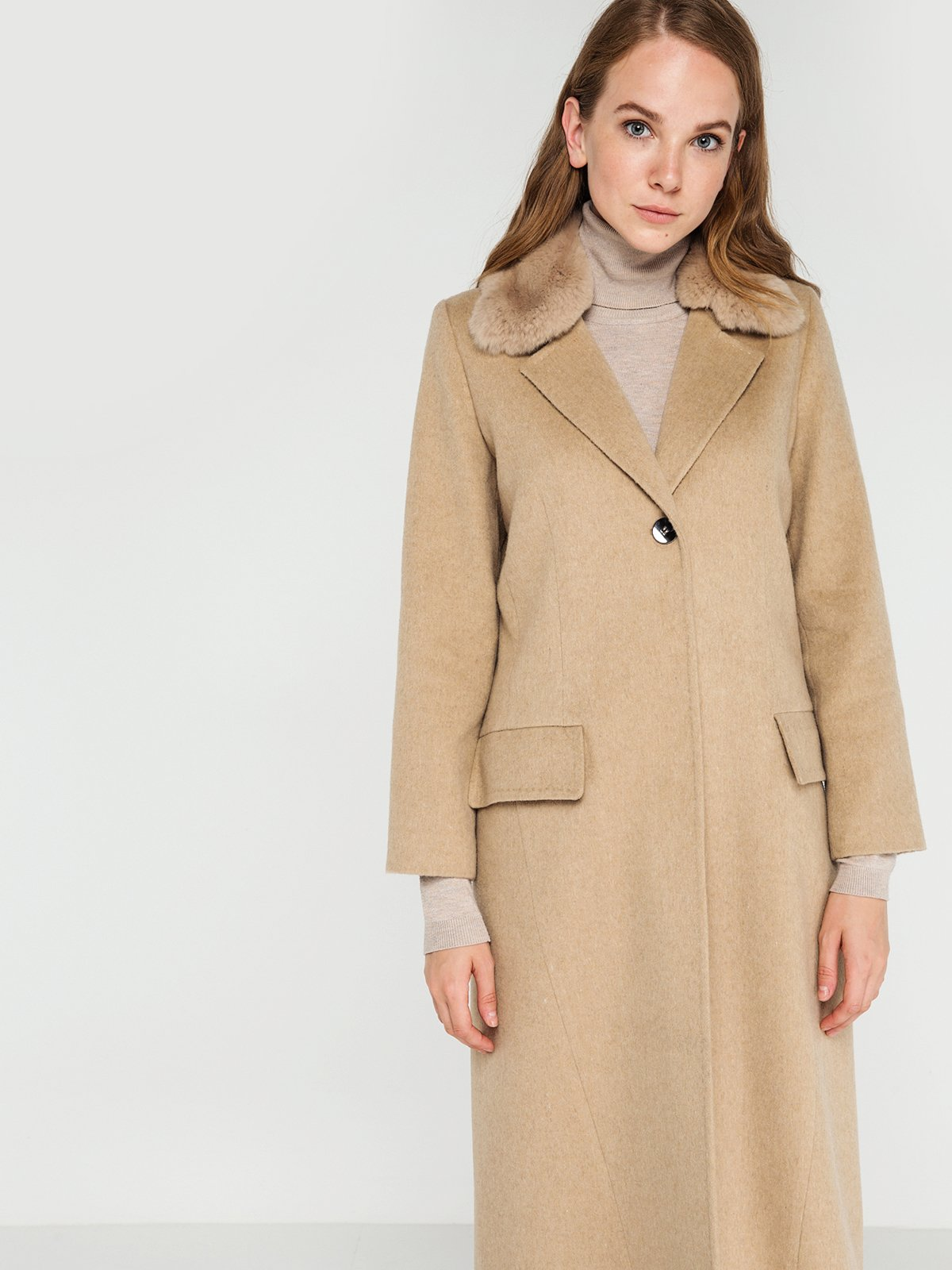 Пальто бежевое | 3606552