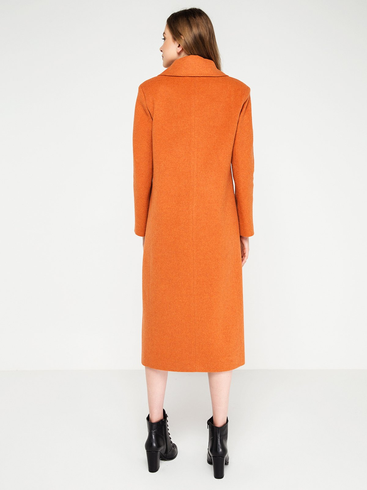 Пальто оранжевое | 3606556 | фото 2