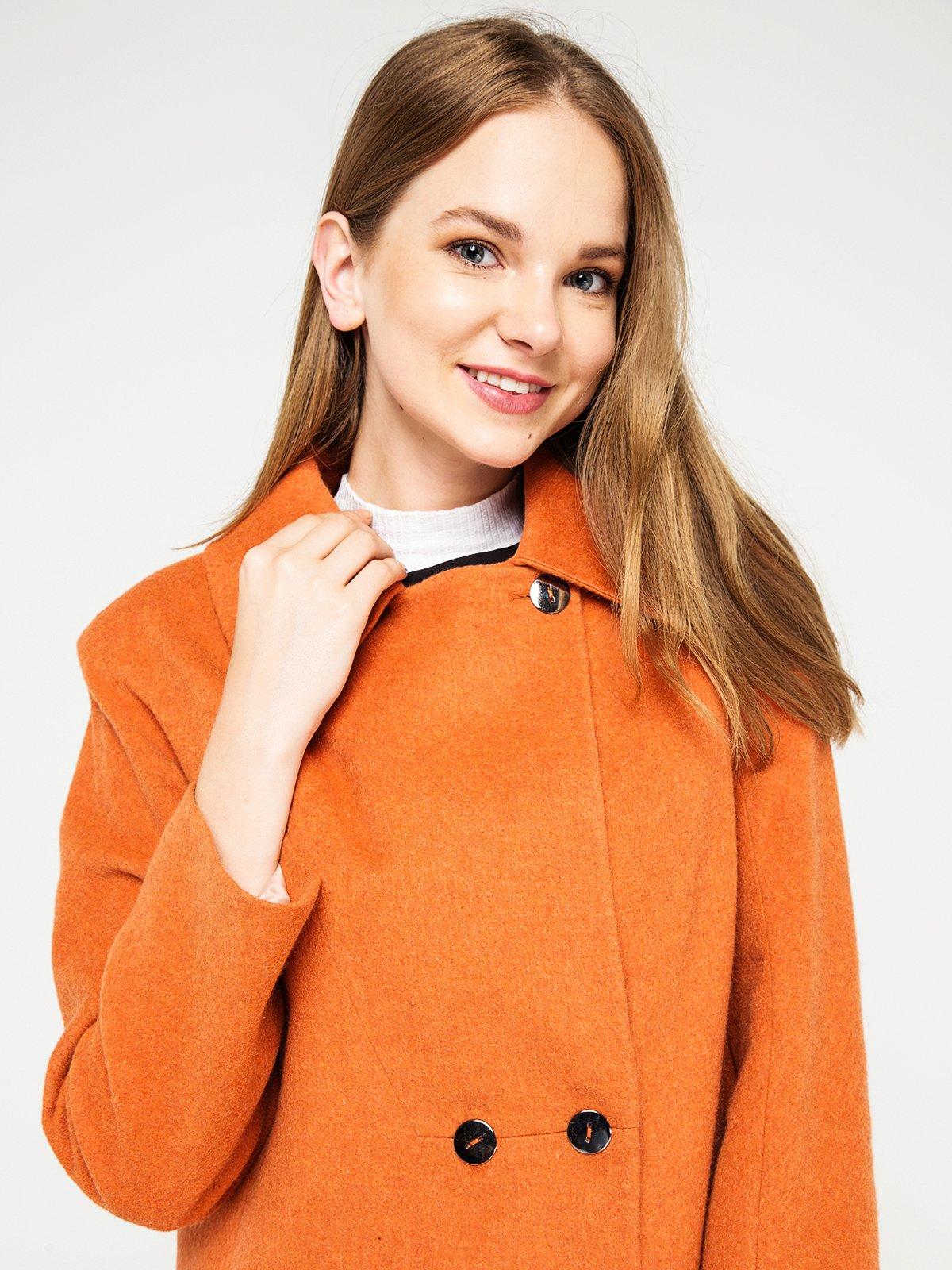 Пальто оранжевое | 3606556 | фото 3