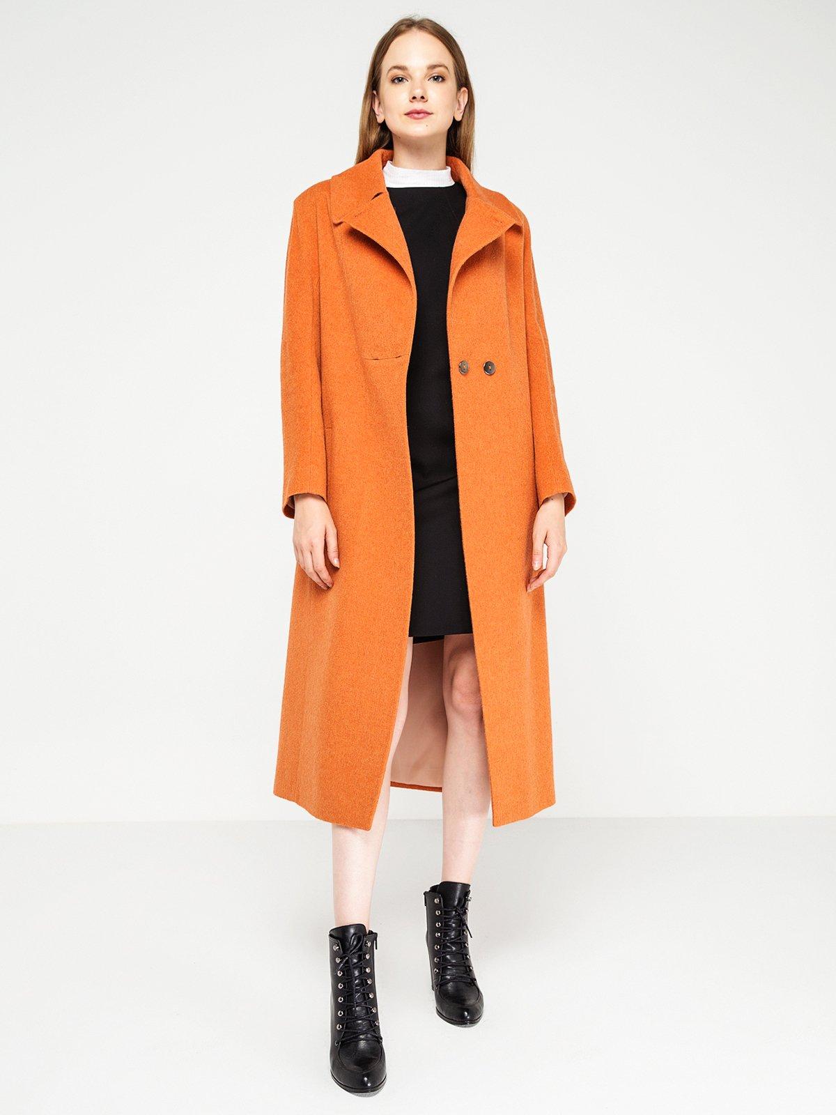 Пальто оранжевое | 3606556 | фото 4