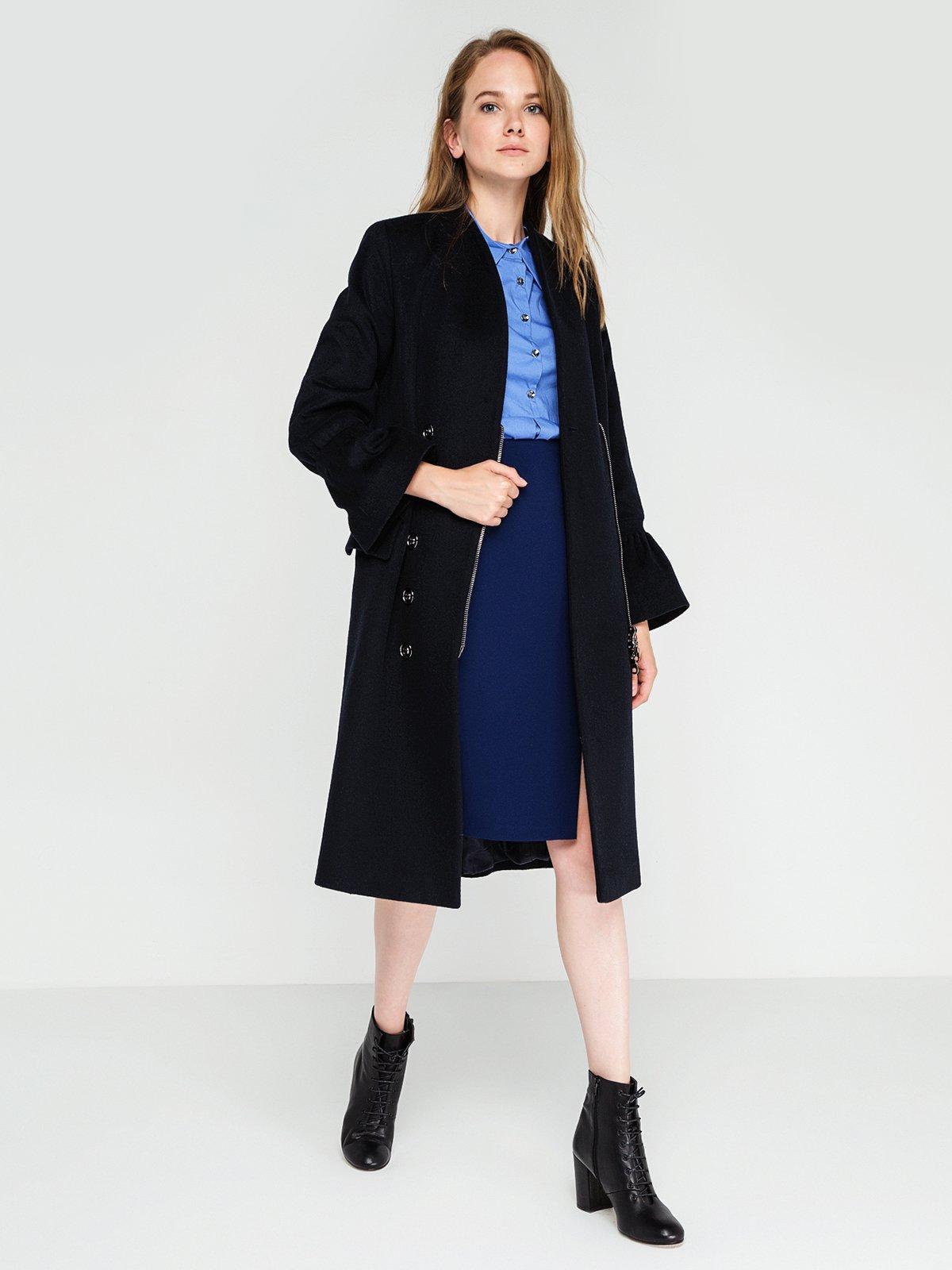Пальто темно-синее   3606561