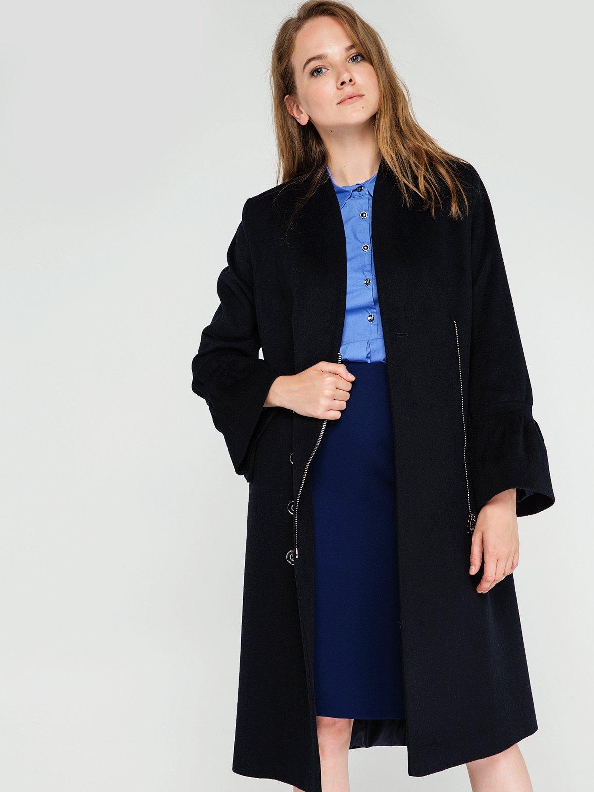 Пальто темно-синее   3606561   фото 2