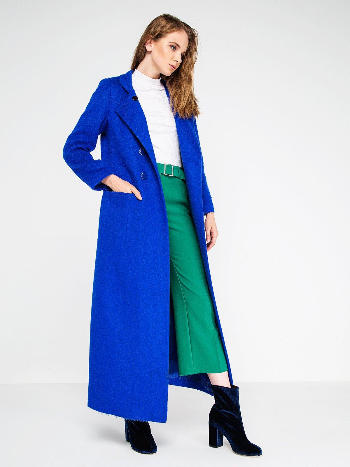 Пальто цвета морской волны | 3606564