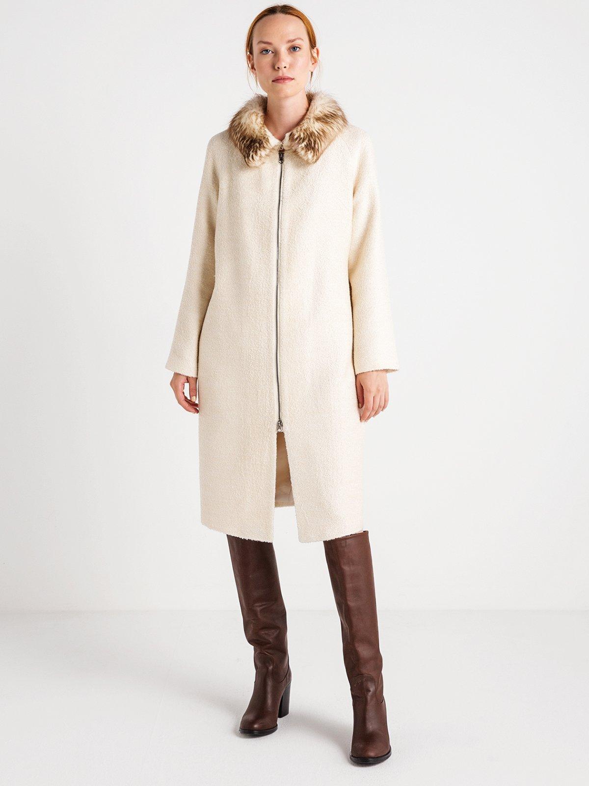 Пальто жемчужного цвета | 3606568