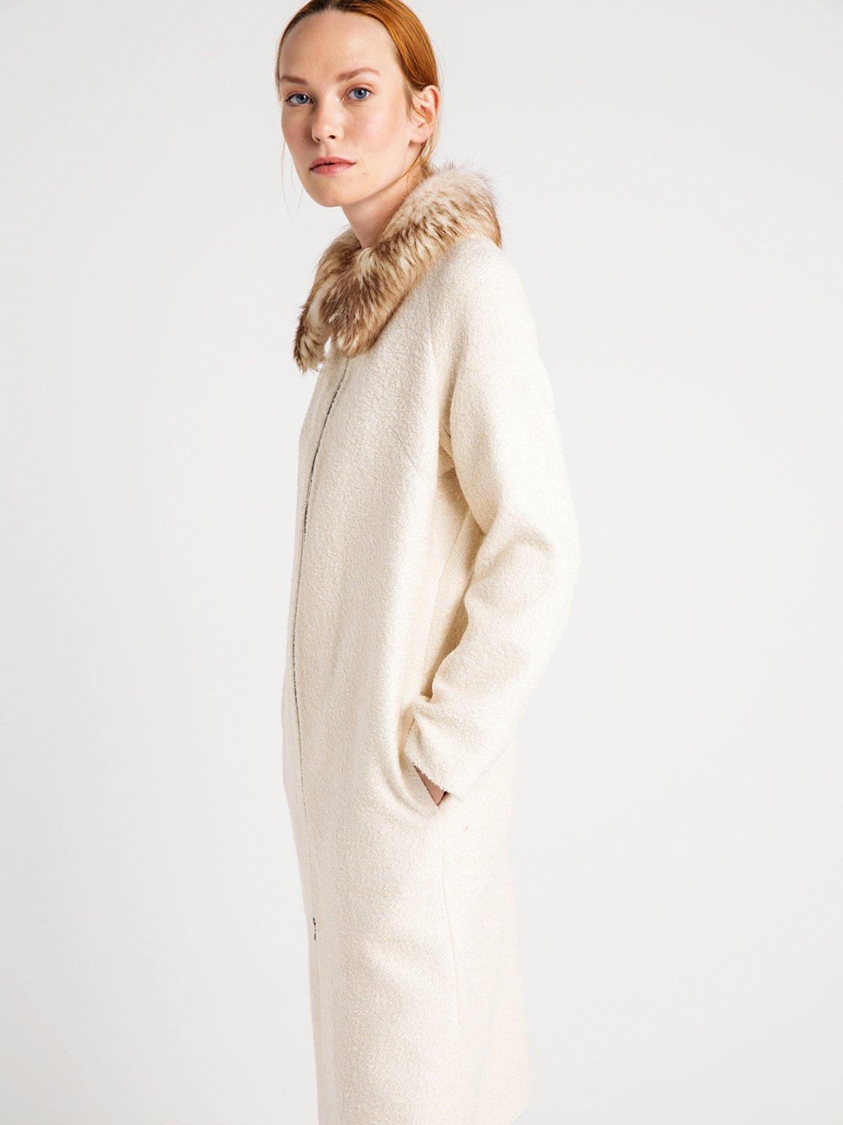 Пальто жемчужного цвета | 3606568 | фото 4