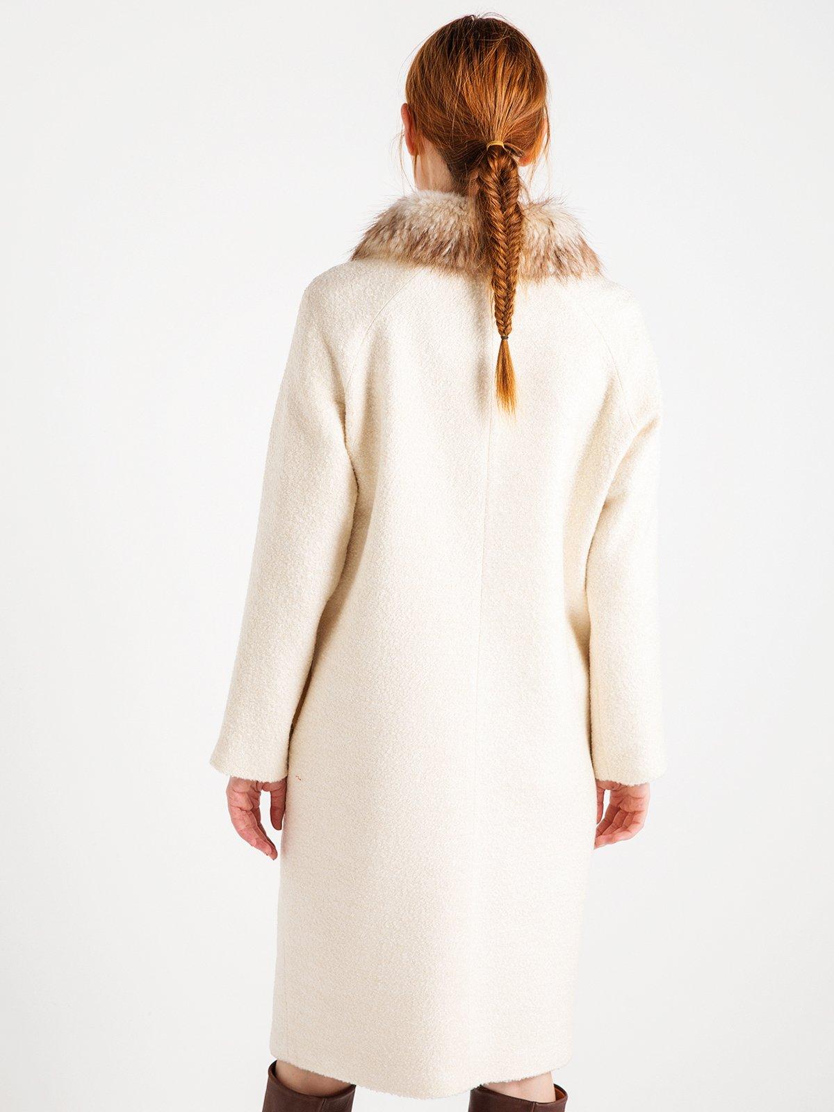 Пальто жемчужного цвета | 3606568 | фото 5