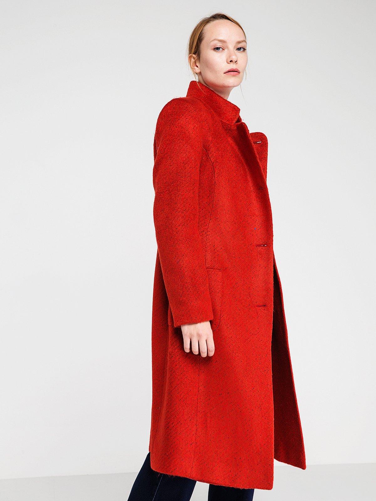 Пальто ярко-красное | 3606571 | фото 3