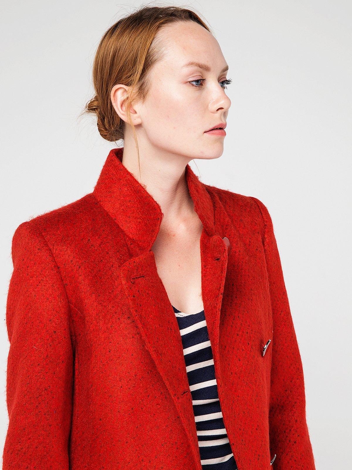 Пальто ярко-красное | 3606571 | фото 4