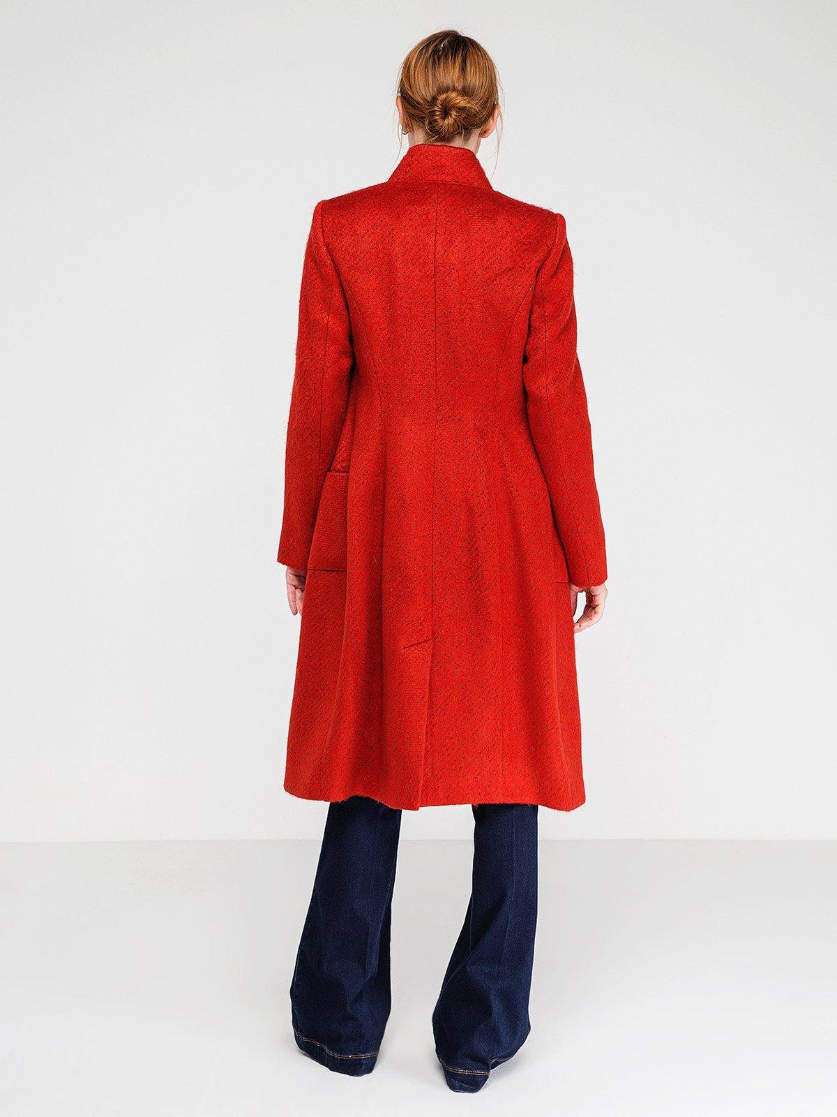 Пальто ярко-красное | 3606571 | фото 5