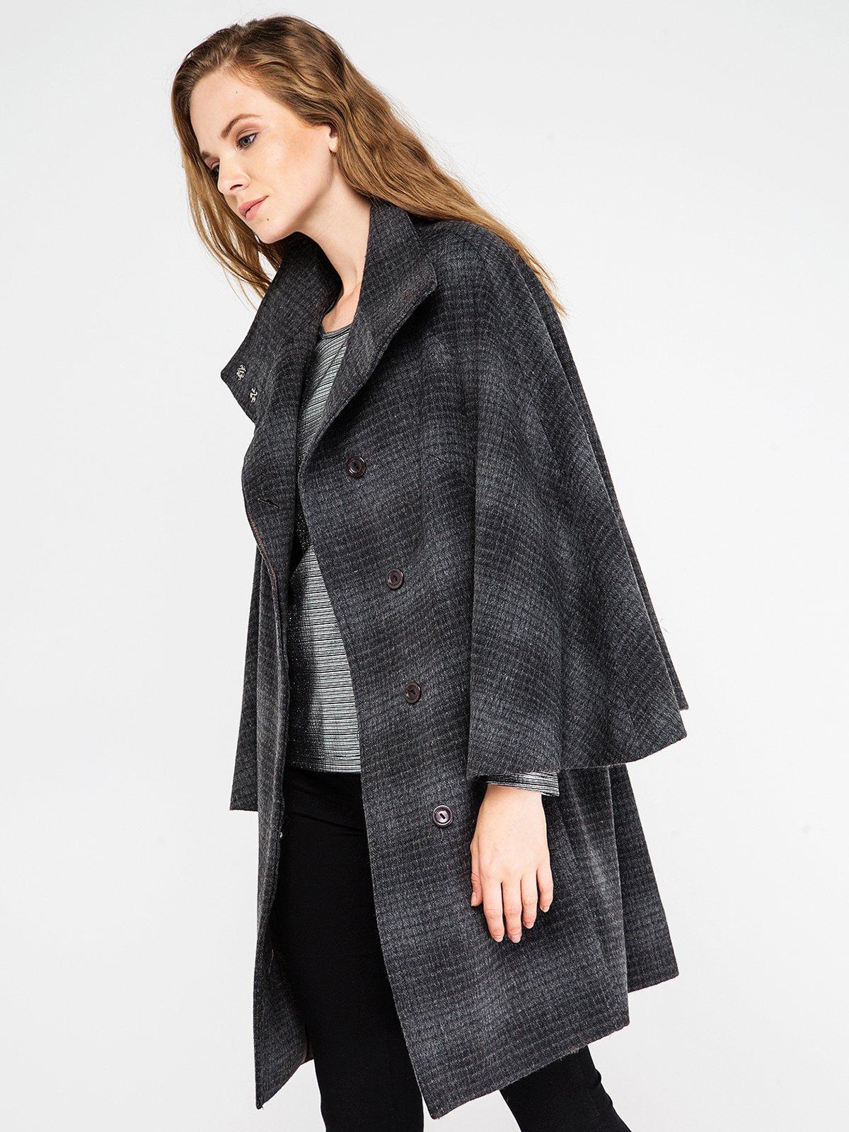 Пальто клетчатое | 3606575 | фото 3