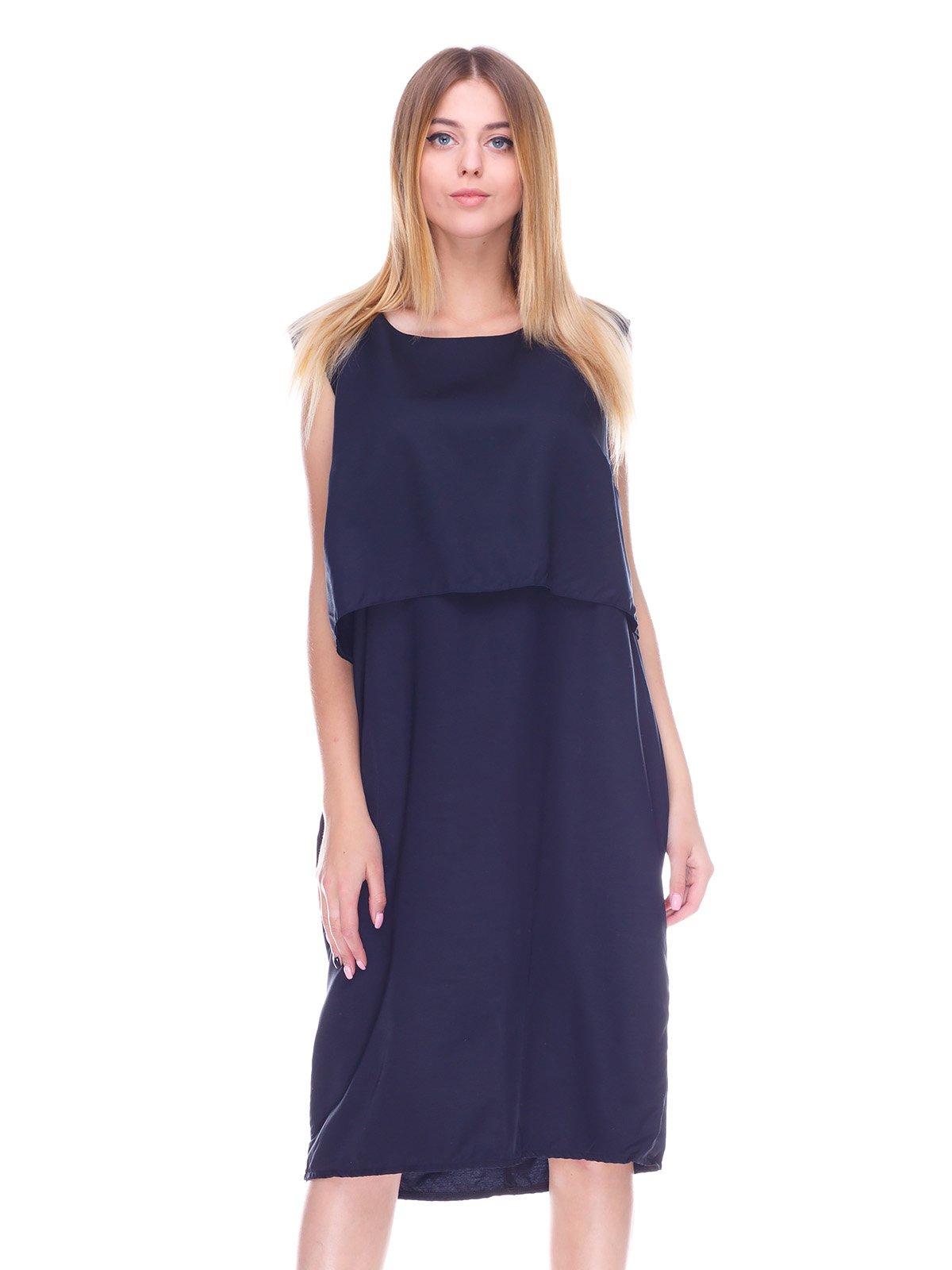 Платье темно-синее | 3593678