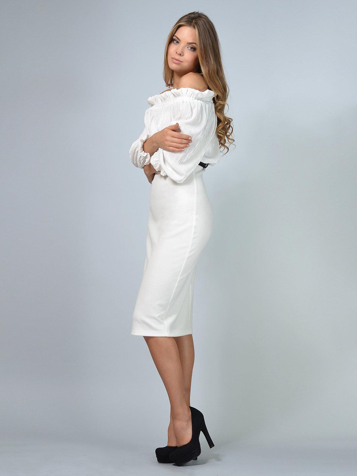 Платье молочного цвета | 3621850 | фото 2