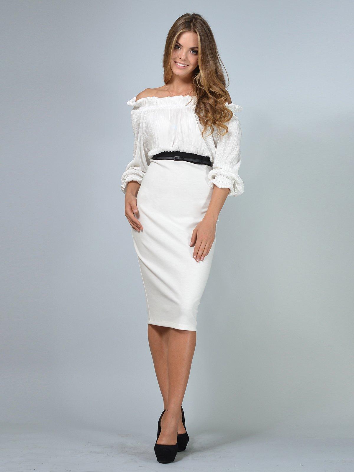 Платье молочного цвета | 3621850 | фото 3