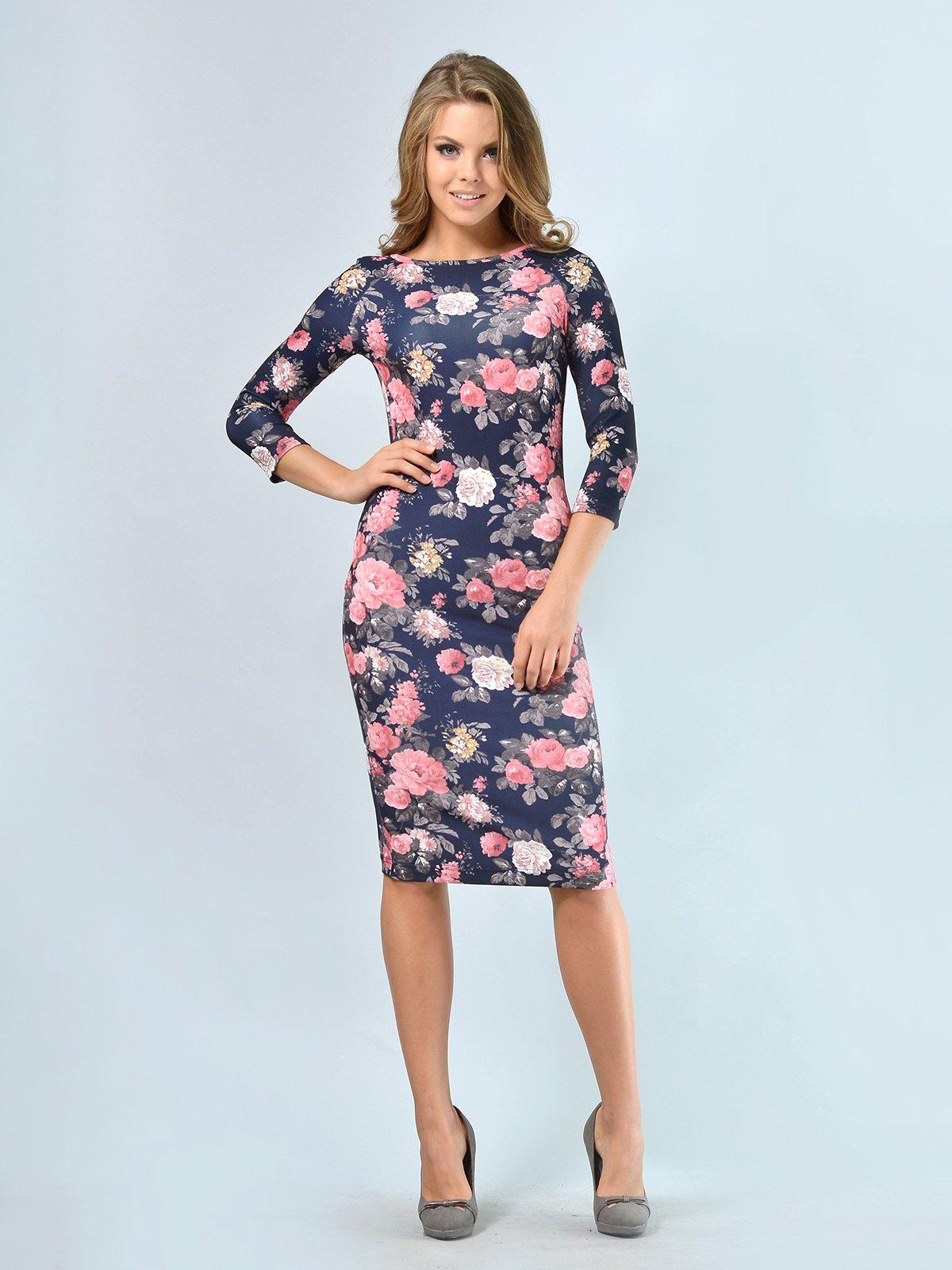Платье в цветочный принт | 3621925