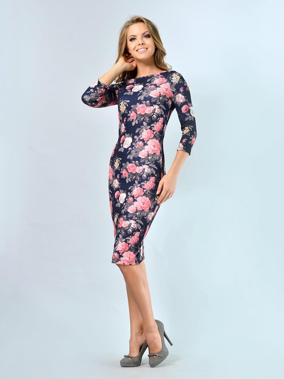Платье в цветочный принт | 3621925 | фото 3