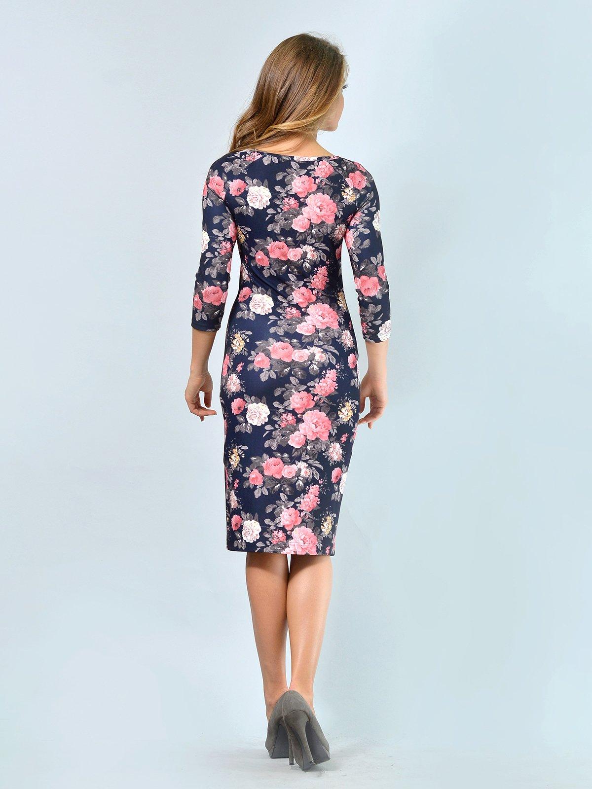 Платье в цветочный принт | 3621925 | фото 4