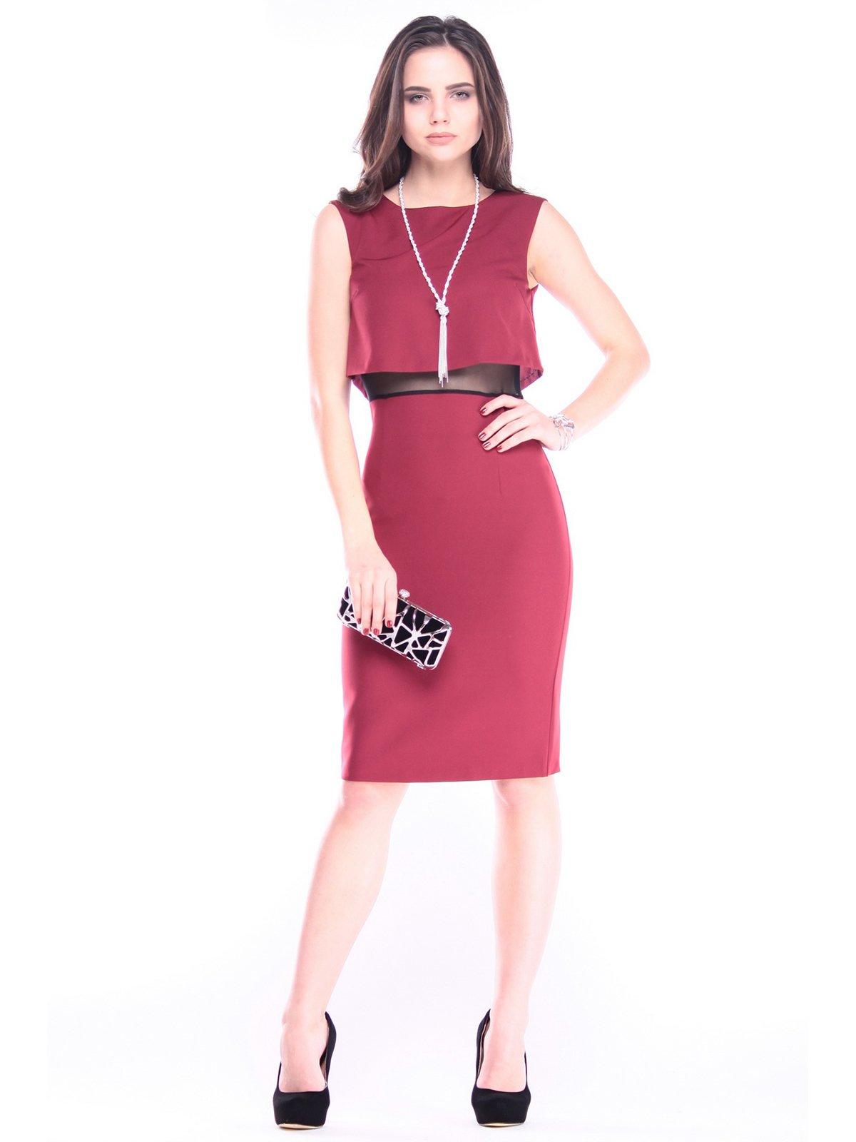 Сукня-сарафан сливово-чорного кольору | 2995872