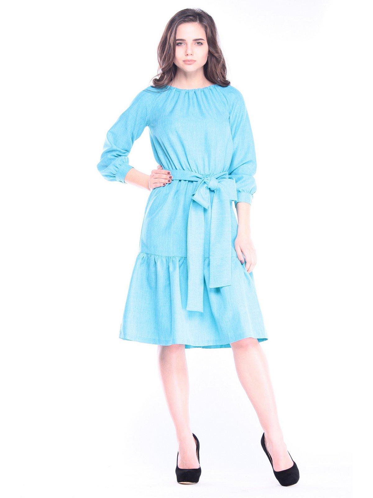 Сукня кольору ментолу | 3091310