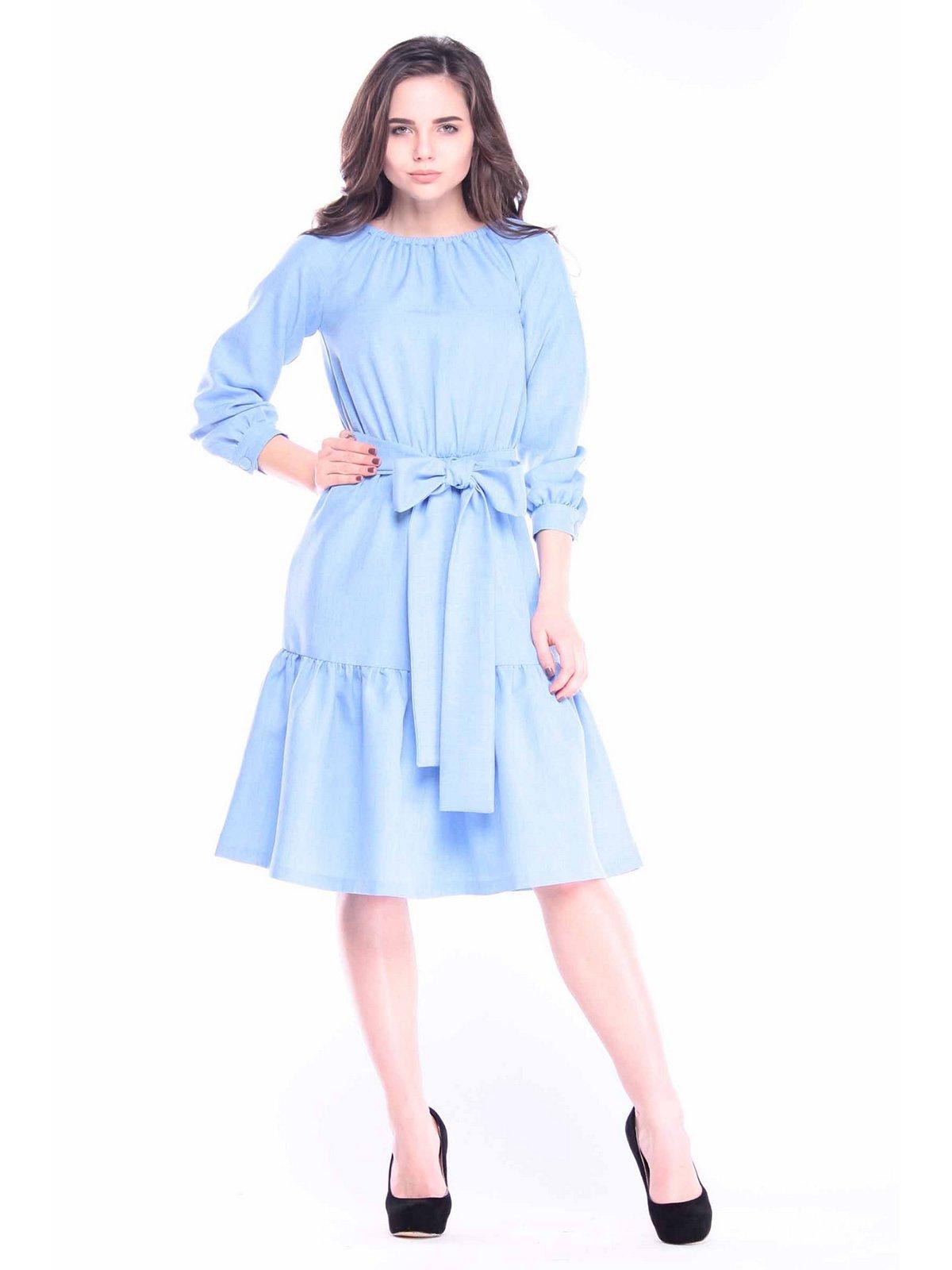 Платье голубое | 3091312