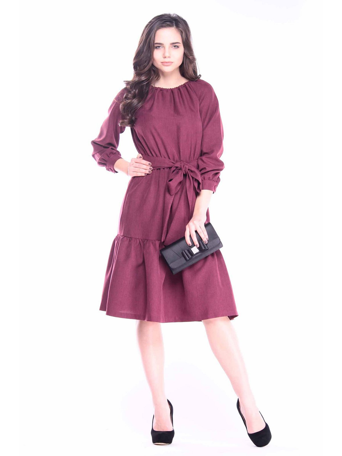 Сукня темно-сливового кольору | 3091313