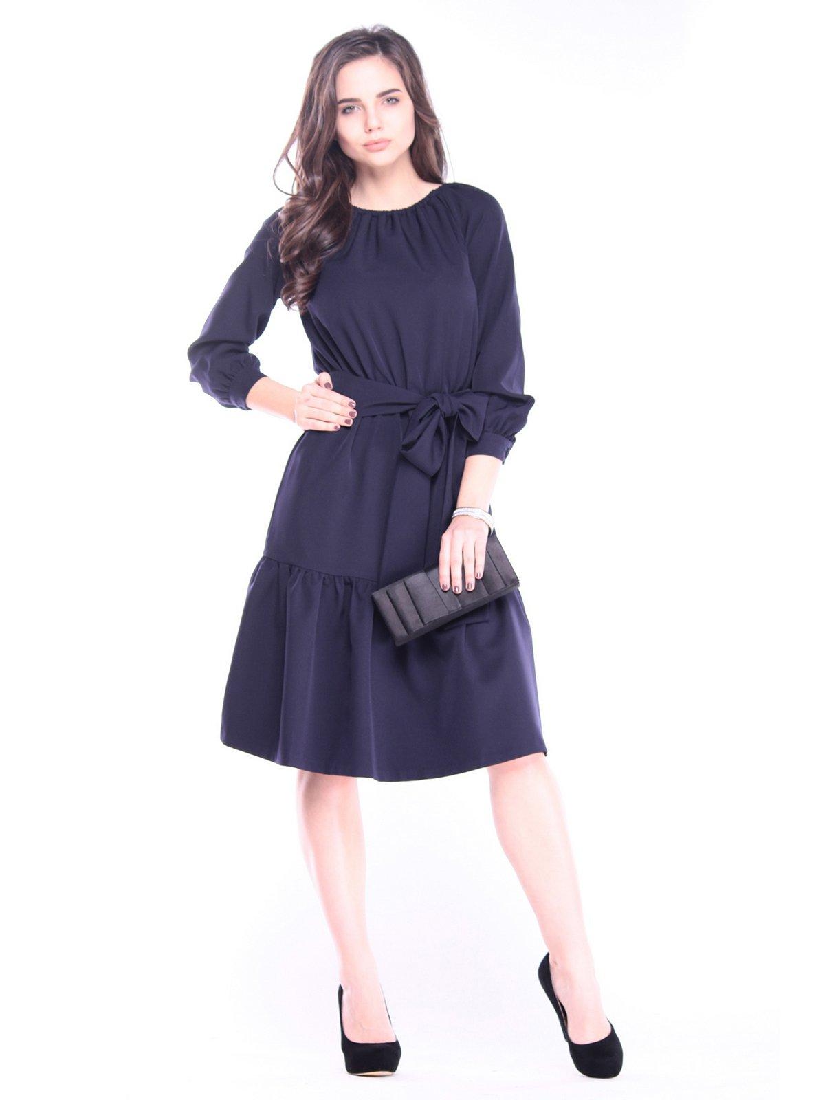 Платье темно-синее | 3091314