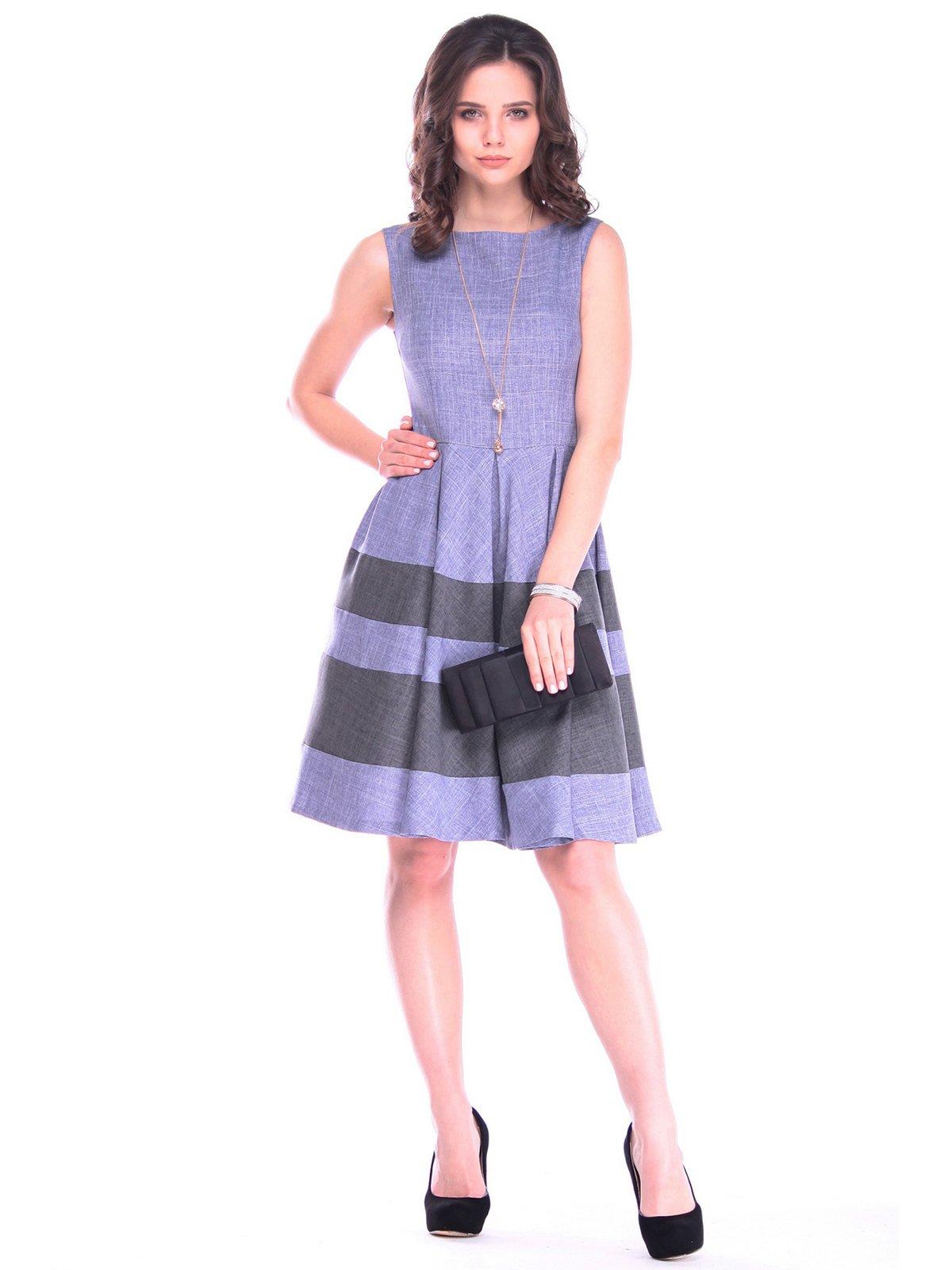 Платье цвета фиолетовой дымки с графитом   3218509