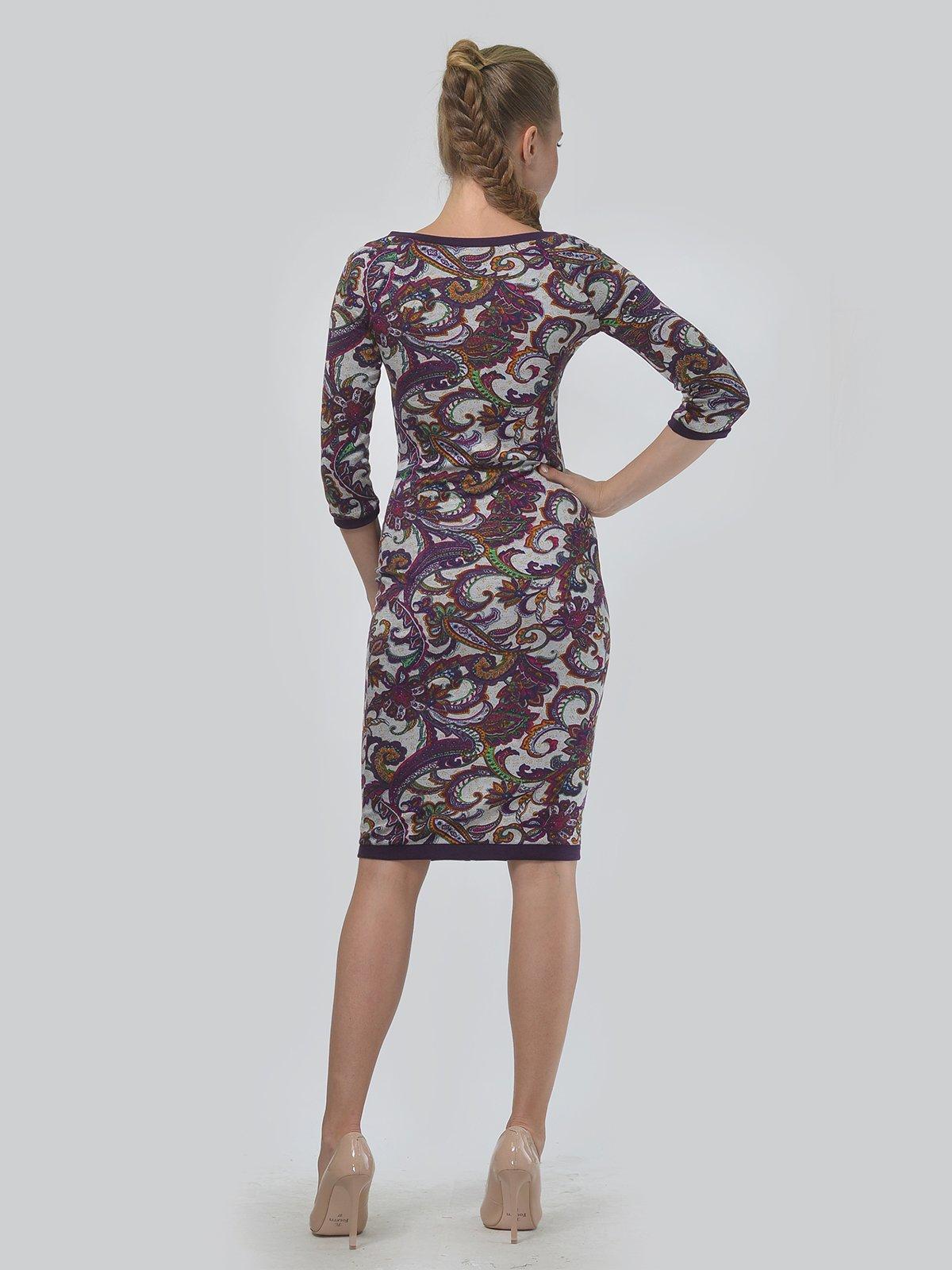 Платье фиолетовое с принтом | 3621768 | фото 3