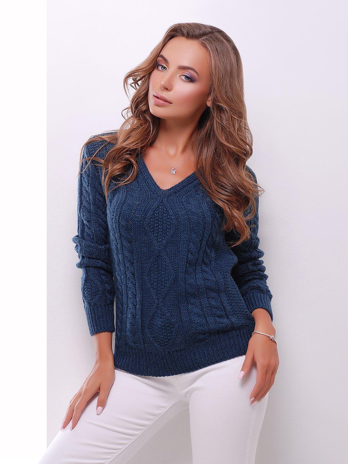Пуловер синий | 3637787