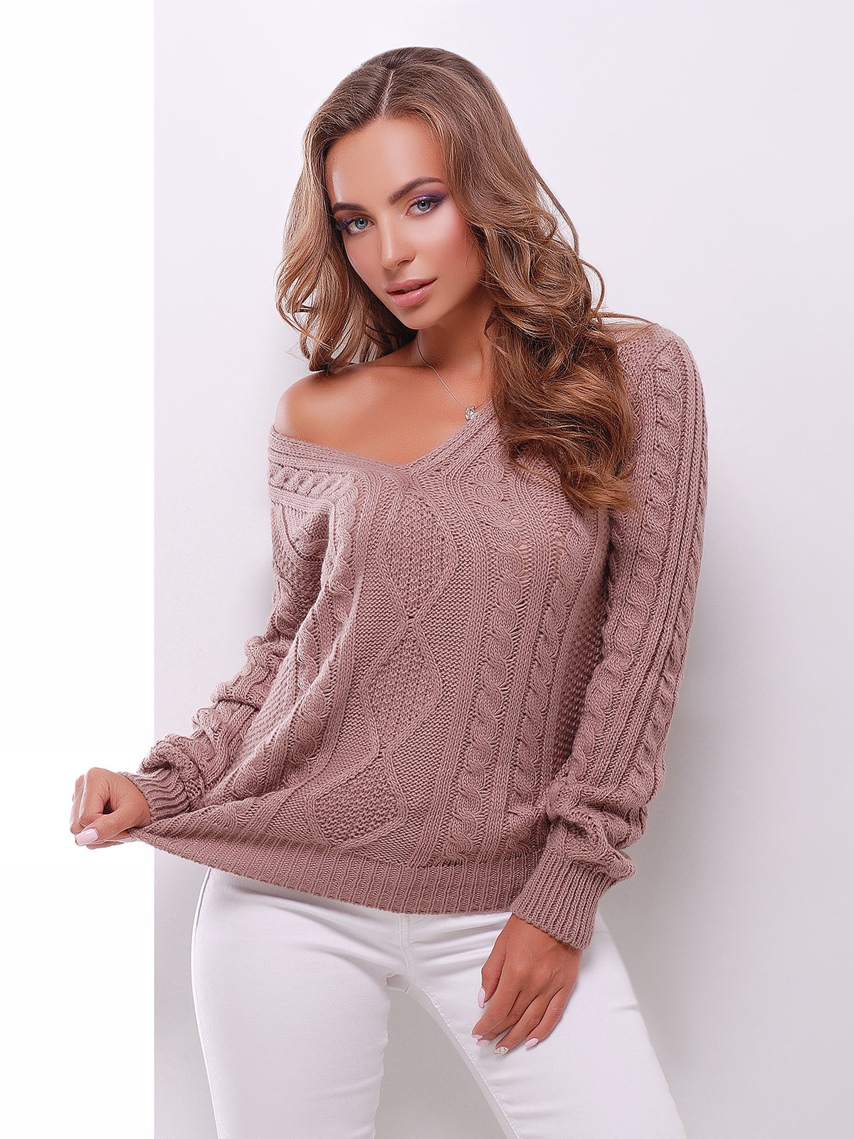 Пуловер цвета фрез | 3637794