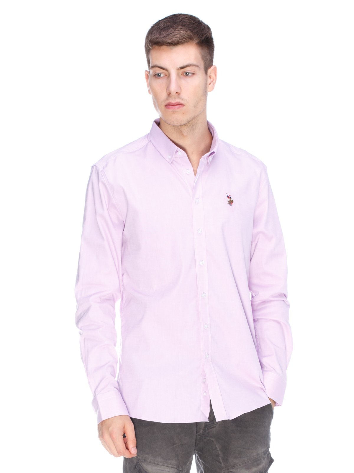 Рубашка сиреневая | 3623671