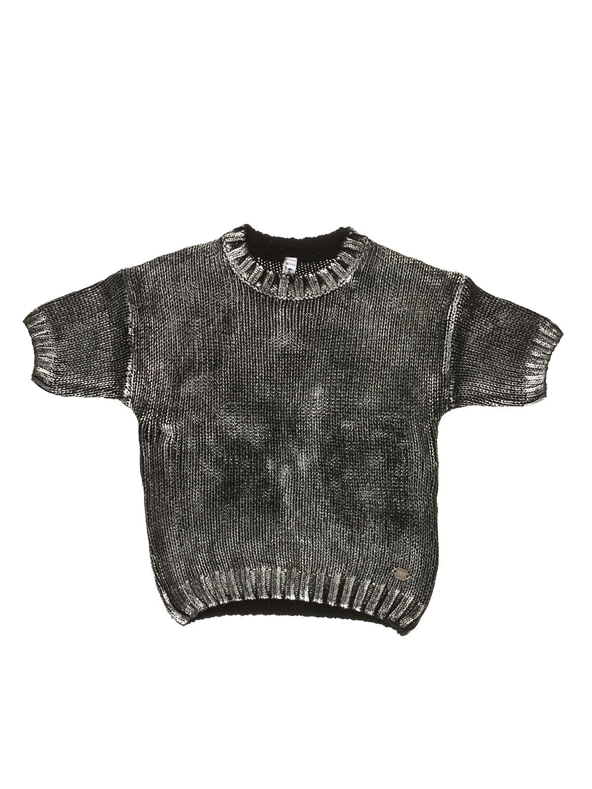 Джемпер черно-серебристый | 3639168