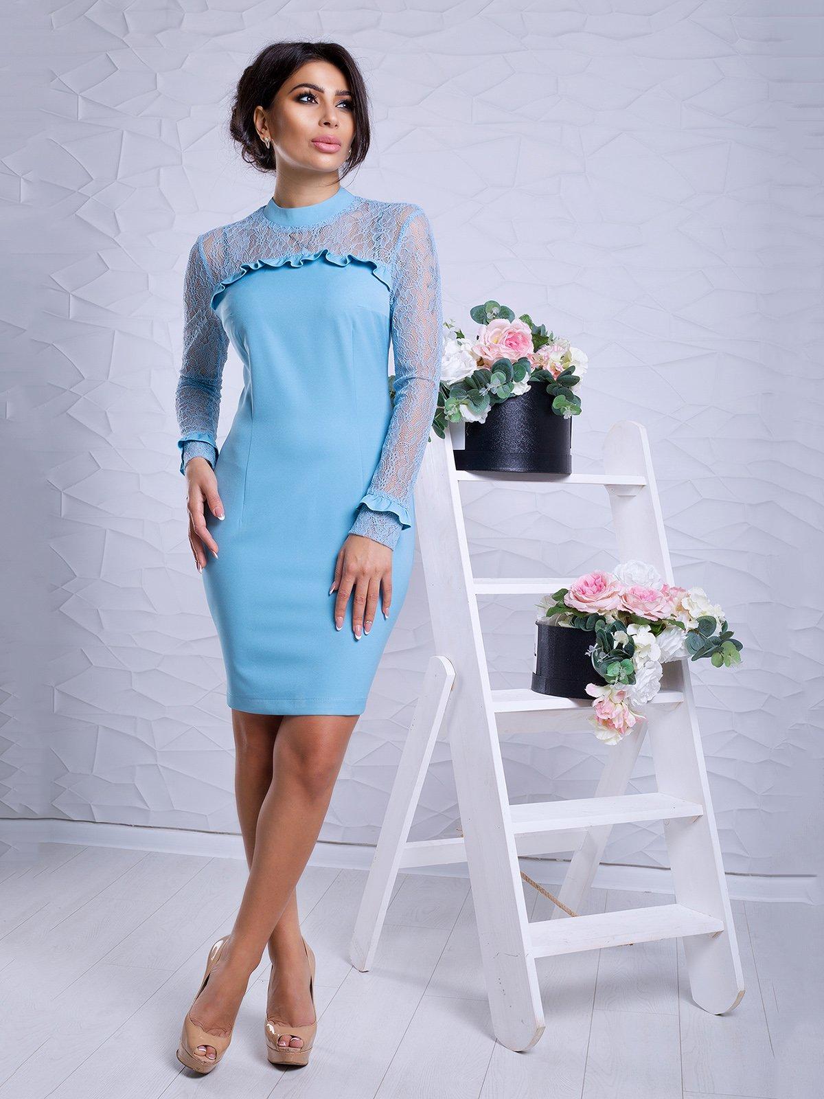 Платье голубое   3645740