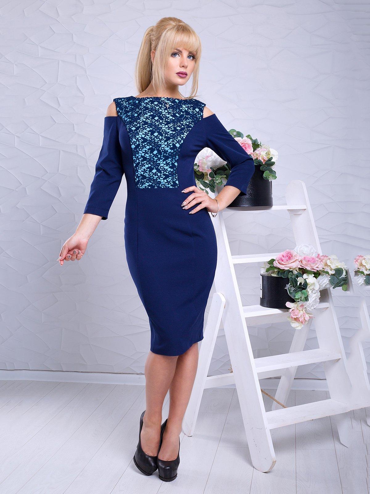 Платье темно-синее   3645755