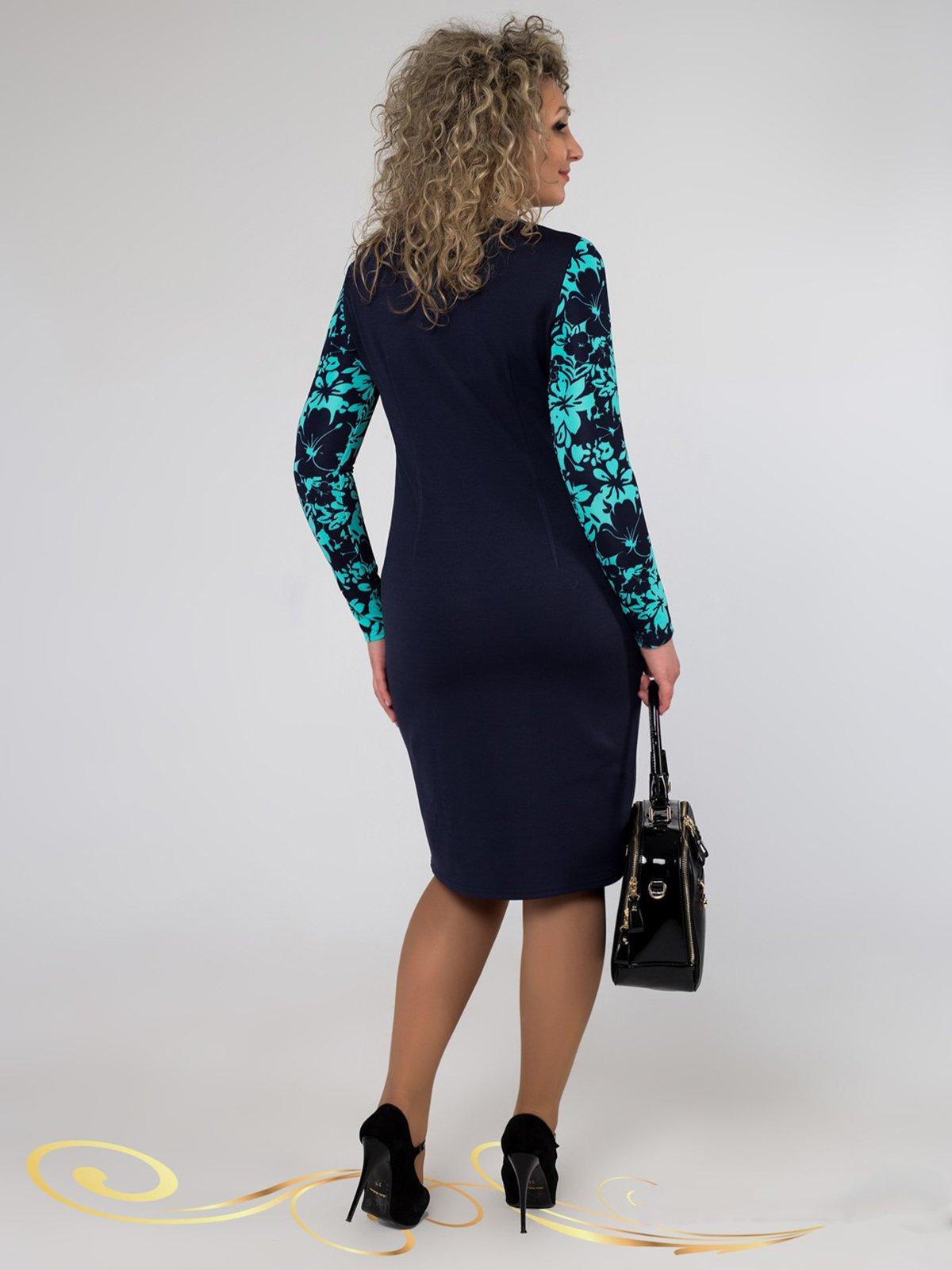 Сукня синя в принт | 3546370 | фото 3