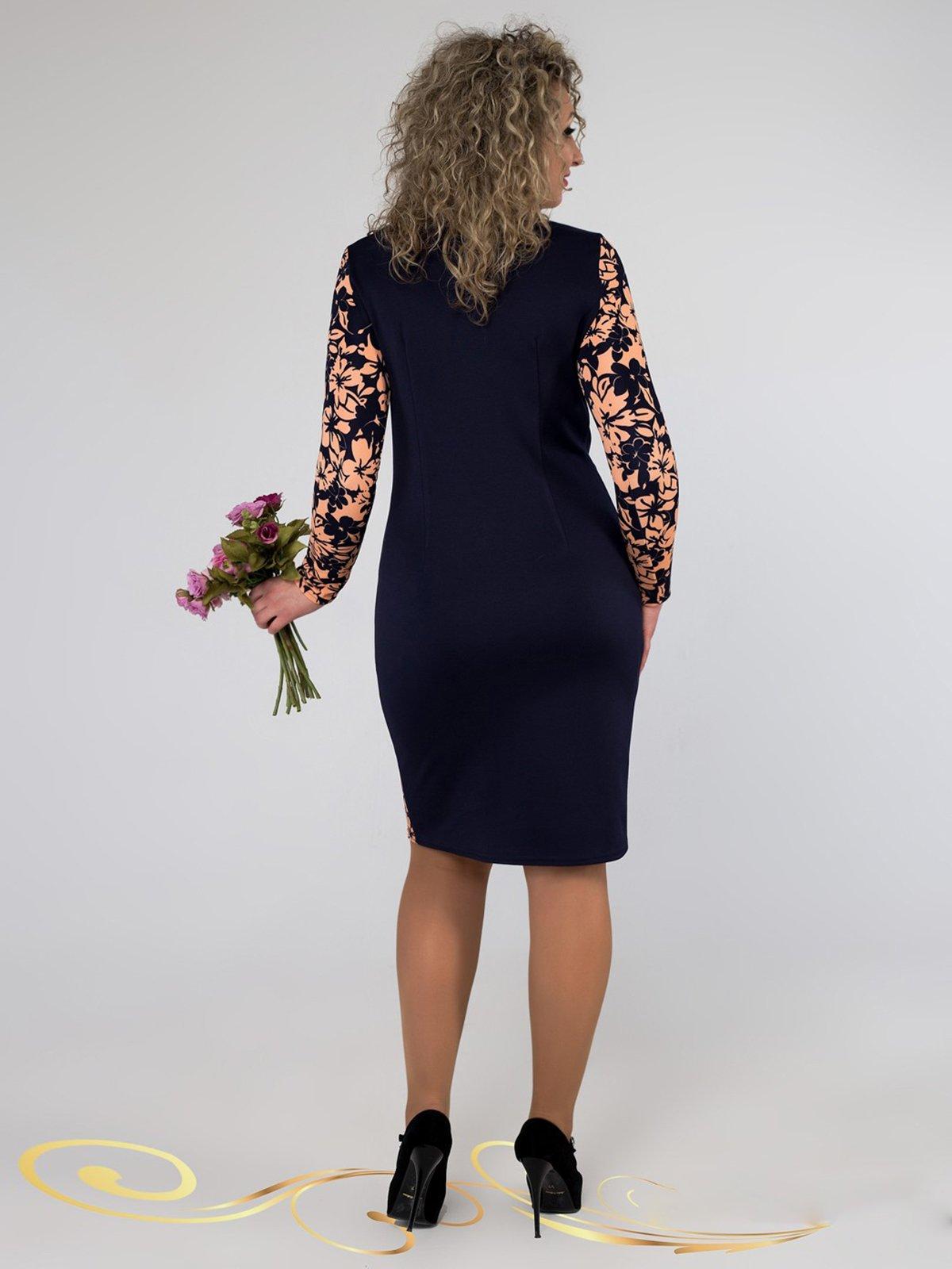 Сукня синя в принт | 3546371 | фото 3