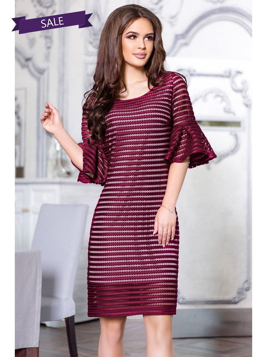 Платье цвета марсала | 3255089