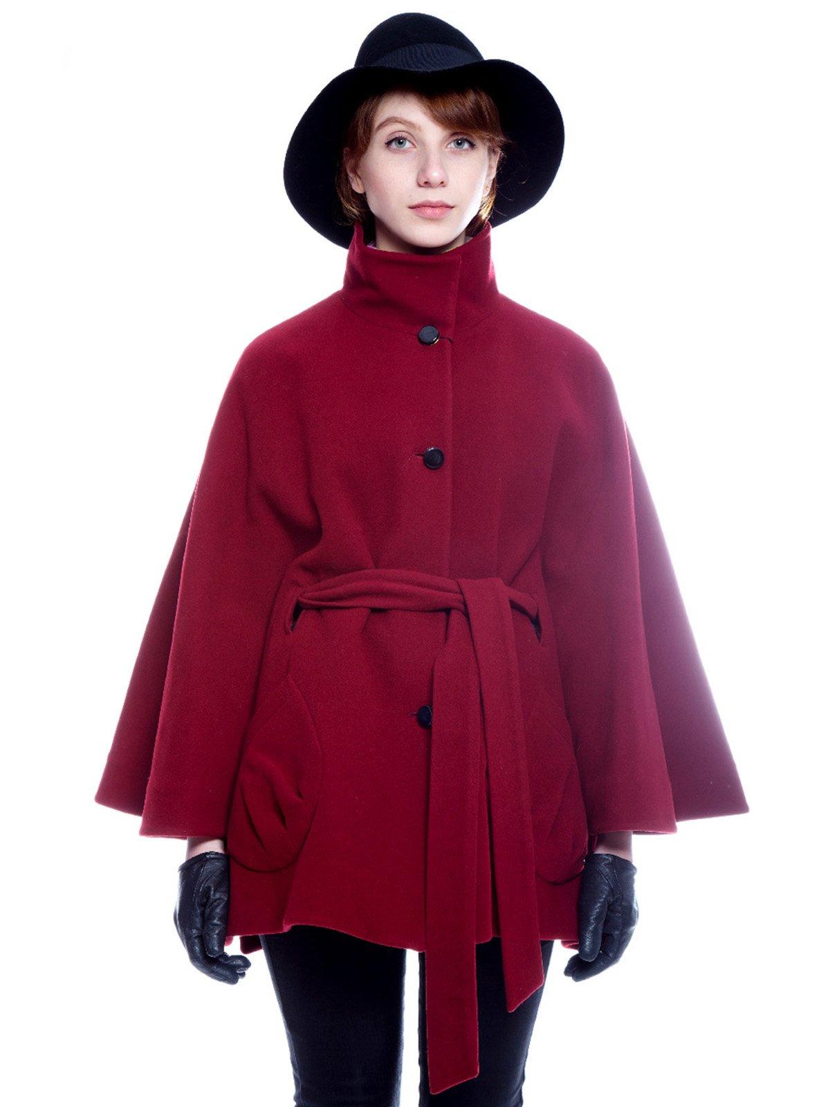 Пальто бордовое | 3652725