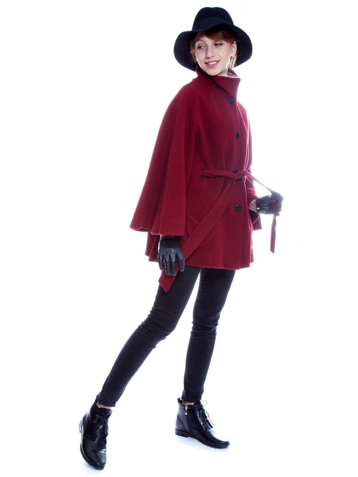 Пальто бордовое | 3652725 | фото 2