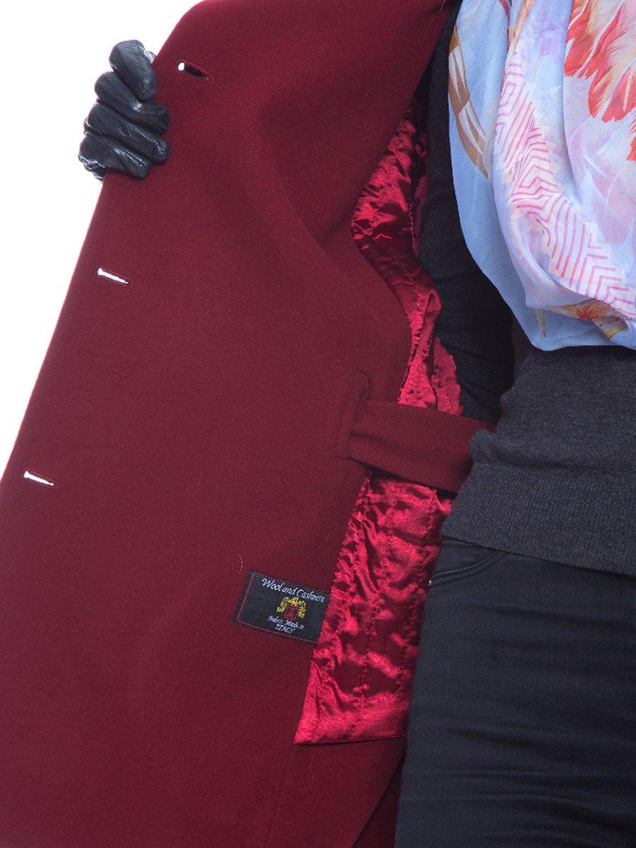 Пальто бордовое | 3652725 | фото 3