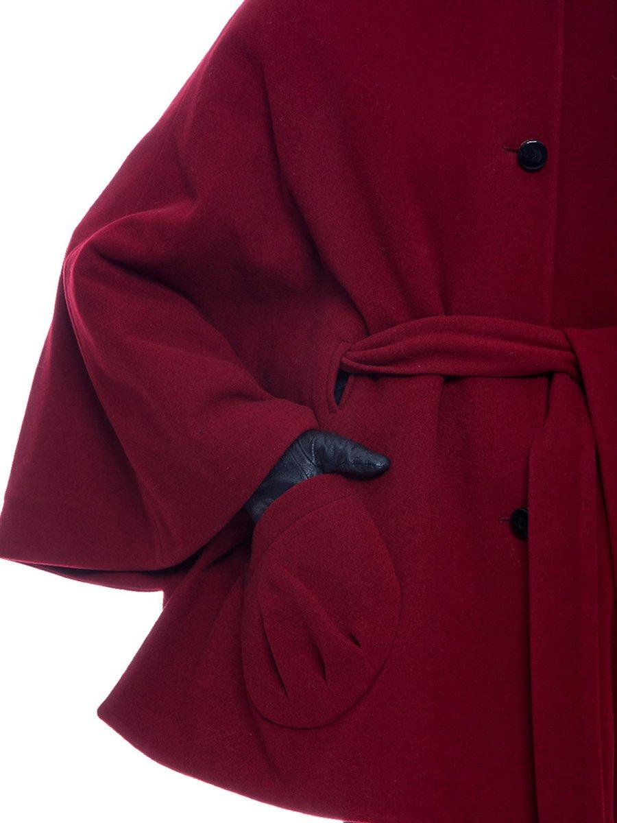Пальто бордовое | 3652725 | фото 4